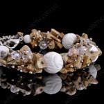 Браслет из яшмы и рельефного коралла