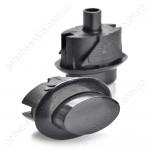 Кнопка ВЯЖА.303.657.007-02 предохранительного устройства ТУПа черная плиты GEFEST