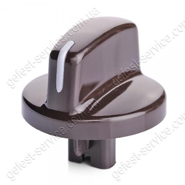 Ручка регулировочная 6100.55.0.000-01 коричневая плиты GEFEST 6100, 6102, 6110