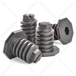Ножки 300.00.0.087А регулировочные черные для плиты GEFEST (комплект)
