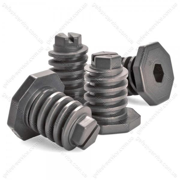 Ножки регулируемые черные плиты GEFEST черные (комплект)