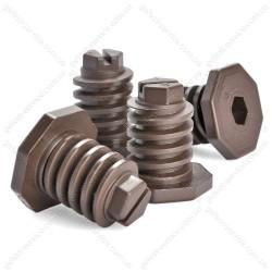 Ножки 300.00.0.087А регулировочные коричневые для плиты GEFEST (комплект)