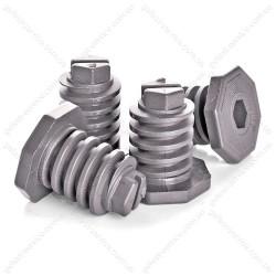Ножки 300.00.0.087А регулировочные серые для плиты GEFEST (комплект)