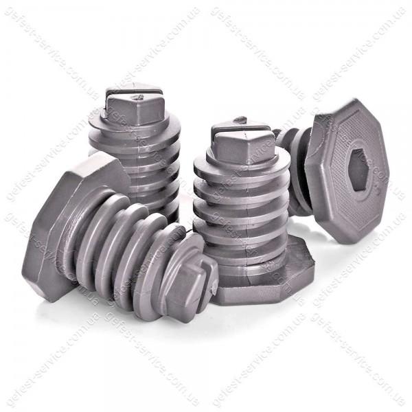 Ножки регулируемые серые плиты GEFEST черные (комплект)