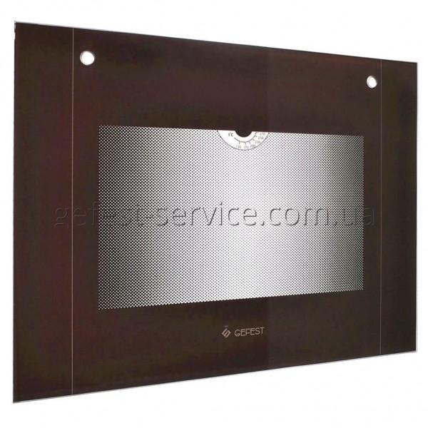 Панорамное стекло духовки Gefest 6100-01 598x448 коричневое