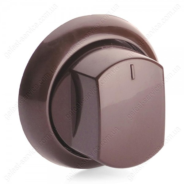 Ручка крана плиты Greta коричневая с манжетой