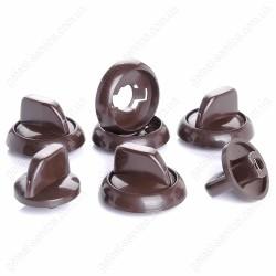Комплект коричневых ручек регулировочных кухонной плиты GRETA 1470, 600