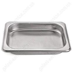 Деко з нержавіючої сталі кухонної плити GRETA. Розмір: 265x325x45 мм.