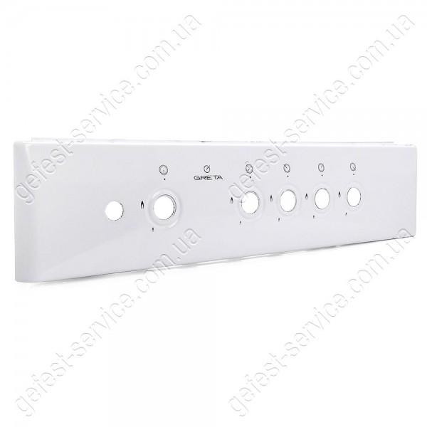 Панель управления белая кухонной плиты GRETA 600-00-06, 600-00-07