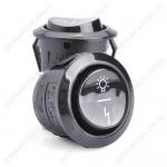 Кнопка подсветки и розжига трехпозиционная черная плиты GRETA
