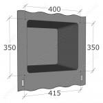 Резиновый уплотнитель дверцы духовки Greta 1470-00