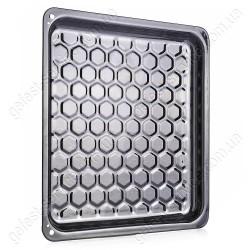 Противень эмалированный рифленый кухонной плиты GRETA. Размер: 370x325x25 мм.
