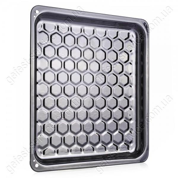 Деко емальований рифлений кухонної плити GRETA. Розмір: 370x325x25 мм.