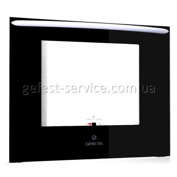 Дверь духовки с белой ручкой кухонной плиты GRETA 600. Размер: 598x474 мм.