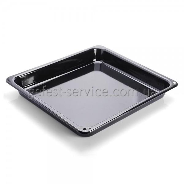 Противень эмалированный гладкий кухонной плиты GRETA. Размер: 370x325x45 мм.