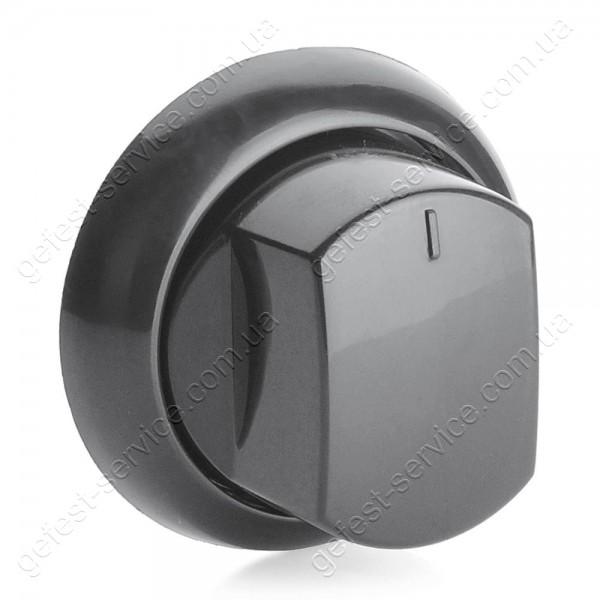 Ручка крана плиты Greta черная с манжетой