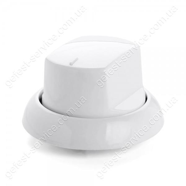 Ручка крана плиты Greta белая с манжетой